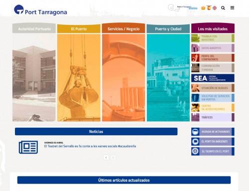 AUTORIDAD PORTUARIA DE TARRAGONA. Web